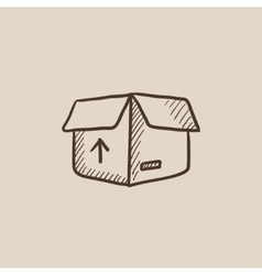 Carton package box sketch icon vector image