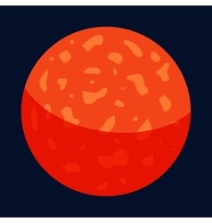 Mercury planet icon cartoon style vector