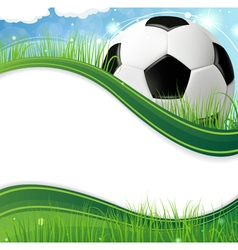 Ball on grass vector