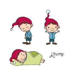 A set of cute little gnomes vector
