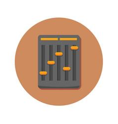Audio mini mixer icon graphic vector