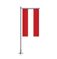 Austria flag hanging on a pole vector image vector image