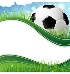 Ball on grass vector