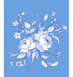 beautiful flowers vector image