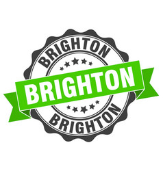 Brighton round ribbon seal vector