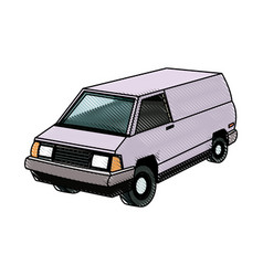 commercial vehicle - delivery van cargo transport vector image