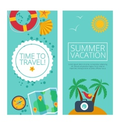 Concepts and banners of travel summer vector image vector image
