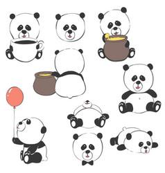 Cute cartoon bears vector