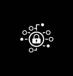 Cyber security icon flat design vector