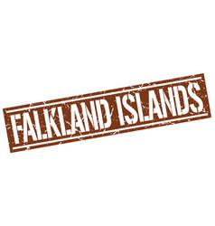 Falkland islands brown square stamp vector