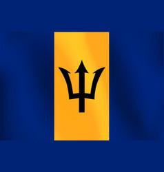 flag of barbados - vector image