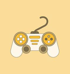 flat icon on background game joystick vector image