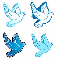 flying doves vector image