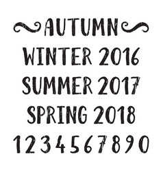 Four seasons lettering vector