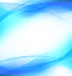 Halftone transparent blue swoosh line template vector image vector image