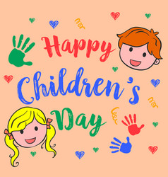 Happy children day cute style vector