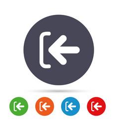 Login sign icon sign in symbol arrow vector