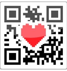QR code heart vector image vector image
