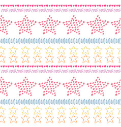 stars ethnic seamless pattern background fashion vector image