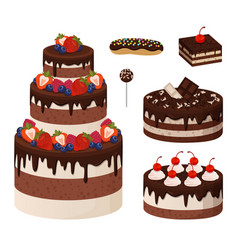 Sweet bakery collection poster vector