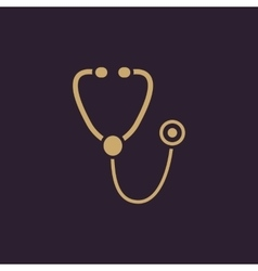 The phonendoscope icon stethoscope symbol flat vector