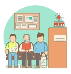Turn to doctor in hospital concept flat style vector