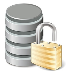 Unlock database vector image