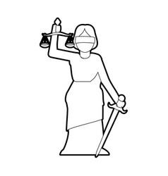 Woman speaking on podium icon image vector