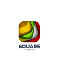 Abstract square logo vector image