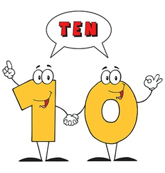 Number Ten And Text vector image