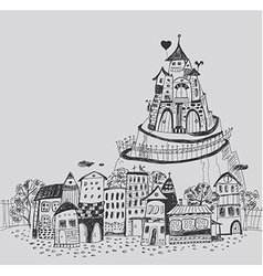 Fairy town vector image