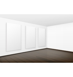 Blank white posters pictures frames in gallery vector