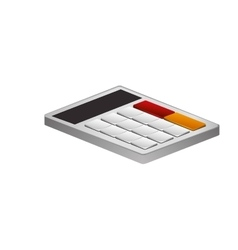 Isolated calculator tool design vector