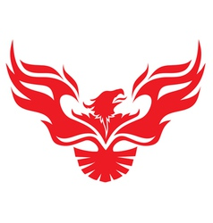 Simple image phoenix vector