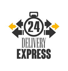 Express delivery 24 hours logo design template vector