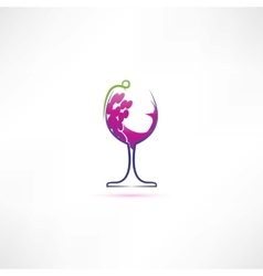 Grape wine icon vector