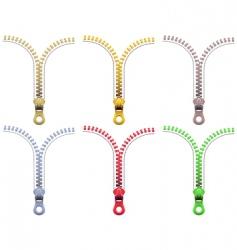 zipper fasteners vector image