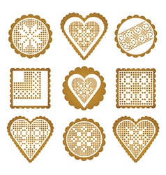 Cookies ginger breads vector