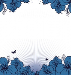 flowers back vector image
