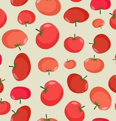 Tomato seamless pattern vegetable background red vector