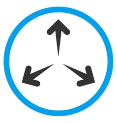 Expand arrows rounded icon vector