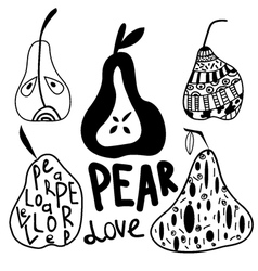 Pears set vector