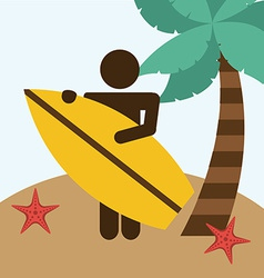Beach vacations vector