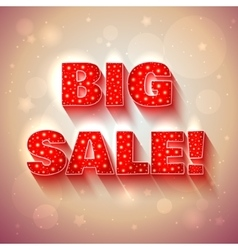 Big sale red banner vector