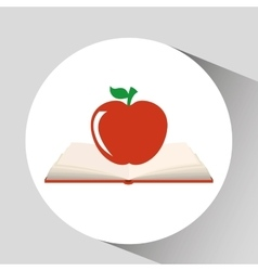 Book open apple concept school graphic vector