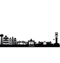 brussels city skyline belgium vector image