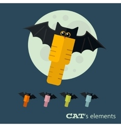 cats elements vector image vector image