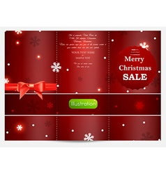 Christmas card with text space vector