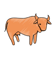 Cow farm animal vector
