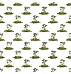 Desert island pattern seamless vector image